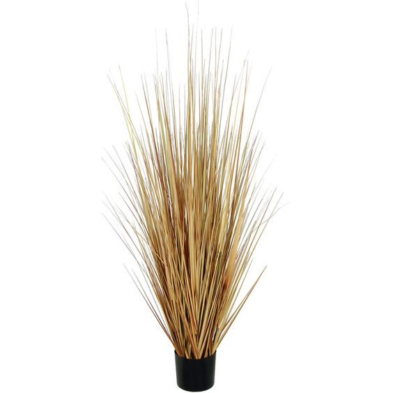 """Artificial Onion Grass Bush 60"""" Tall Color: Fall Potted ❤ liked on Polyvore featuring home, home decor, floral decor, fillers, plants, autumn home decor and fall home decor"""