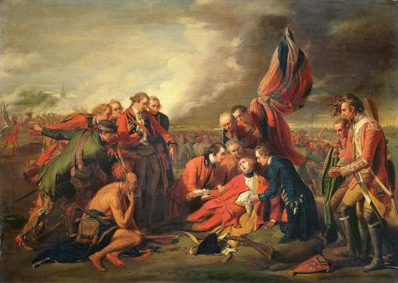 death of general wolfe The death of general wolfe is a well-known 1770 painting by anglo-american artist benjamin west depicting the death of british general james wolfe at the 1759 battle of quebec during the french and indian war (which was the north american theater of the seven years' war ).
