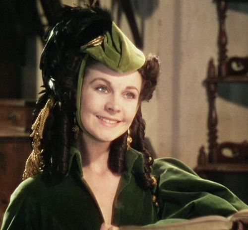 Gone with the wind love the green outfit when she visited for Who played scarlett in gone with the wind