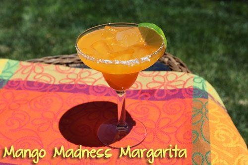 Mango/Papaya Margarita with infused tequila.