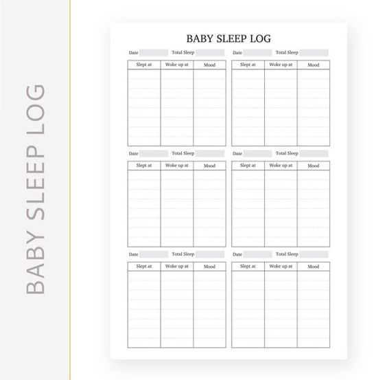 Baby Journal Printable Baby Sleep Log A5 Printable Planner Insert Instant Digital Down Planner Calendar Printables Baby Journal Planner Inserts Printable Child support worksheet and schedule