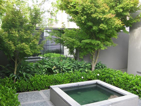 Small courtyard ideas mirrors give an impression of for Images of small courtyard gardens