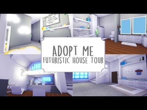 Modern Futuristic House Tour Roblox Adopt Me Youtube Futuristic Home Unique House Design Cool House Designs