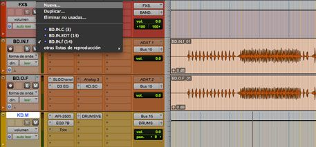 playlist, 5 herramientas de pro tools para produccion musical, https://promocionmusical.es/produccion/: