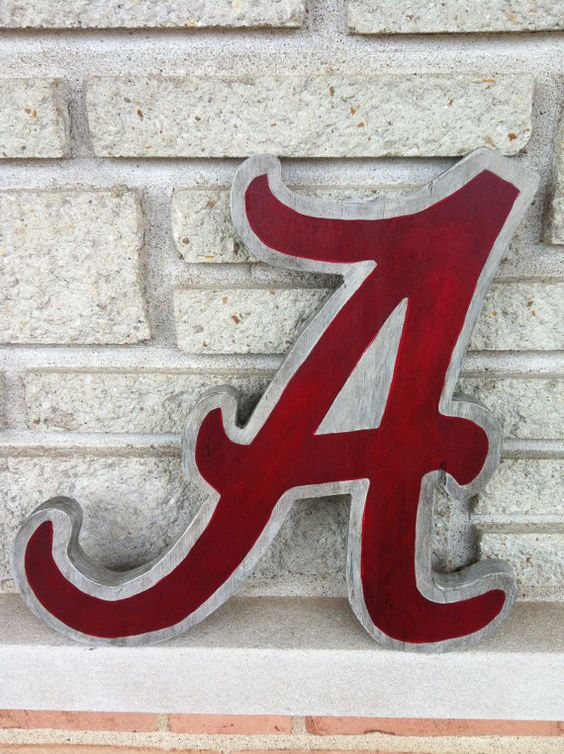 Wooden Letter Small 12 letter Alabama Crimson Tide A by GrowthRing, $40.00