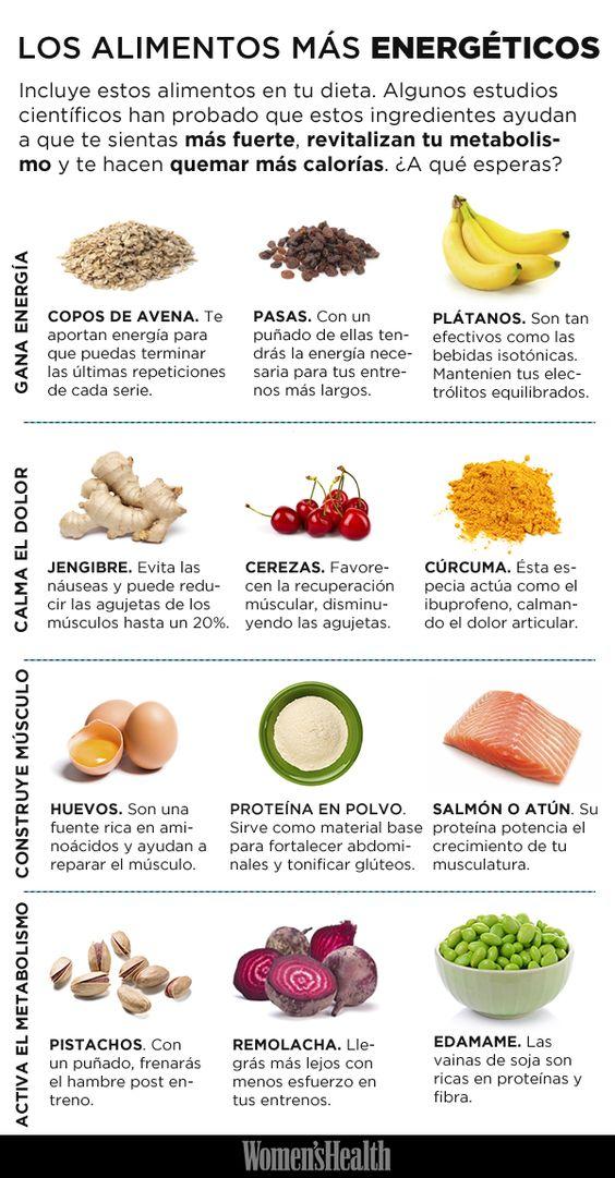 Los alimentos más energéticos que todos los deportistas deben tener en cuenta. #nutrición #entrenamiento: