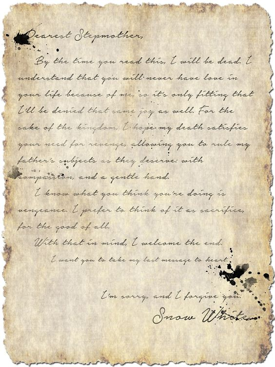 Storybrooke Live > Snow's Letter to Regina (S1E7)