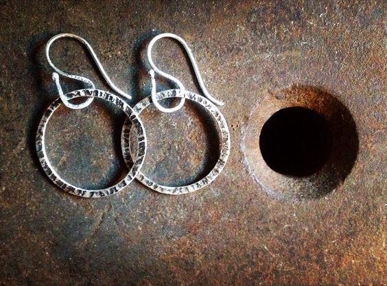 Sterling silver earrings @gloriacarlos.com