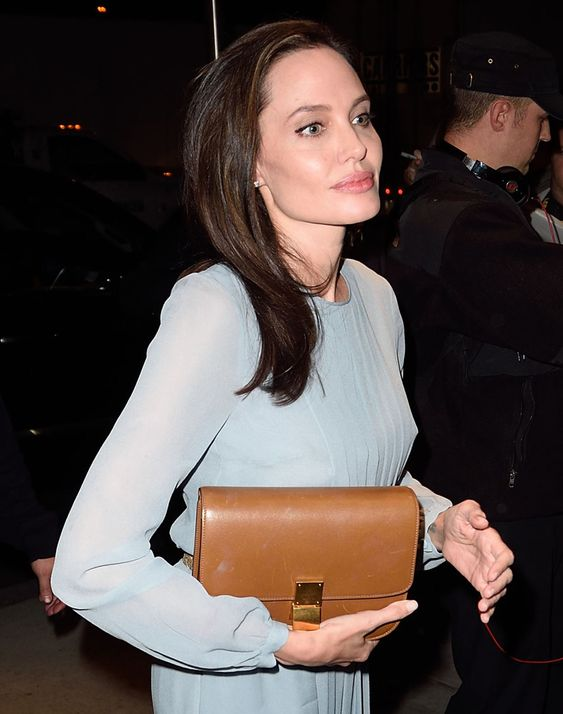 buy celine handbags online - Angelina Jolie C��line Classic Box Bag | celebrity bags | Pinterest ...