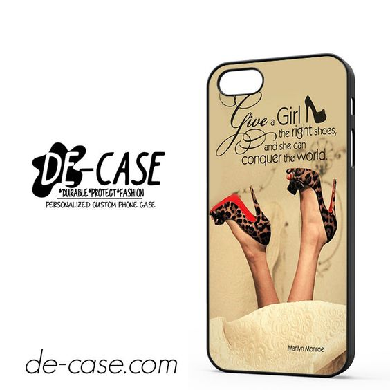 Girl Shoes Marlyn Monroe Quotes DEAL-4686 Apple Phonecase Cover For Iphone 5 / Iphone 5S