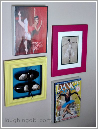 Creating a dance wall for a teen girl's room | laughingabi.com