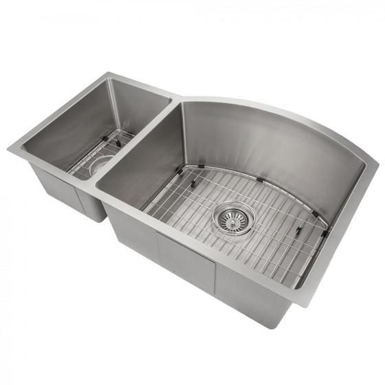 Zline Farmhouse 36 Double Bowl Apron Sink Stainless Steel Sa50d