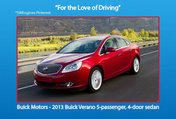 Swengines Buick Motors 2013 5 Passengers 4 Door Sedan Buick