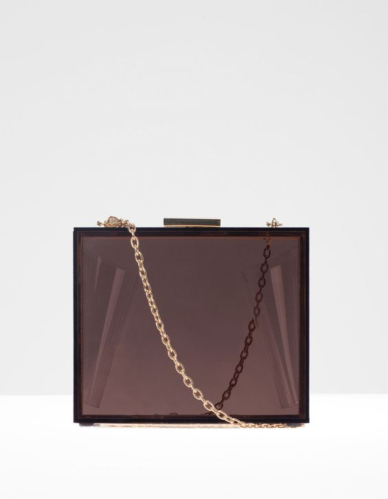 Bolso clutch transparente