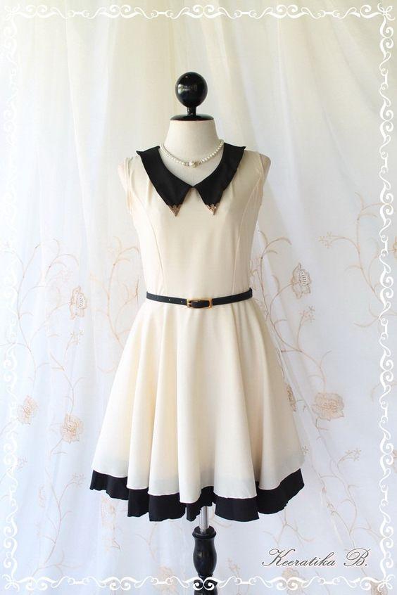 Vintage School Girl II - School Girly Casual Dress Vintage ...