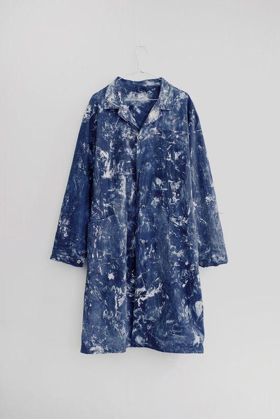 Blue print coat | Abstract pattern | kleidersachen
