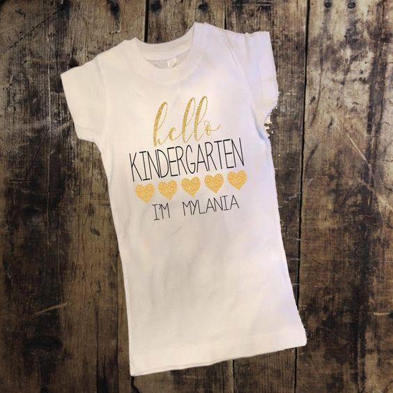 Personalized Hello Kindergarten Shirt