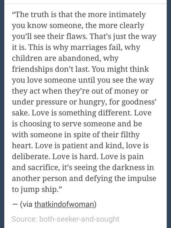 Love is hard. Love is pain.