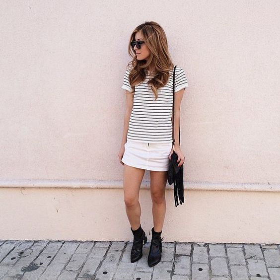 """Happy #HumpDay! Can't go wrong with stripes + fringe! (shop link in bio)"""