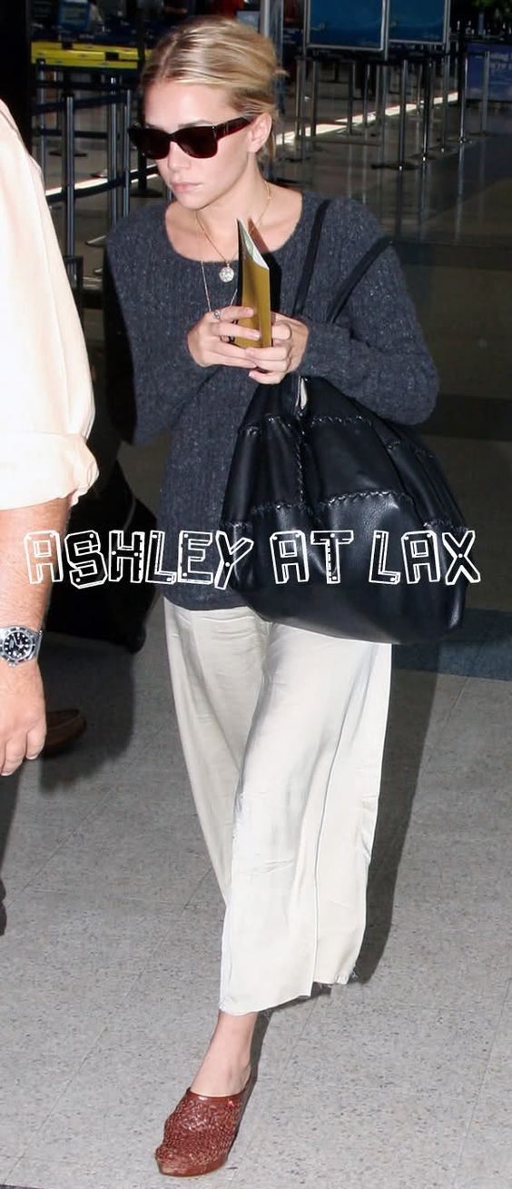 Canada Goose vest outlet shop - Ashley Olsen in a pair of white culottes at LAX. #style #fashion ...