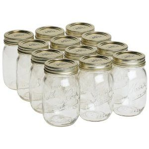 Kerr mason jar, pint 16oz.: Candles, infusions, soaks, scrubs... the list never ends