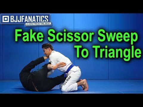 Fake Scissor Sweep To Triangle Youtube Jiu Jitsu Training Jiu Jitsu Techniques Bjj Techniques