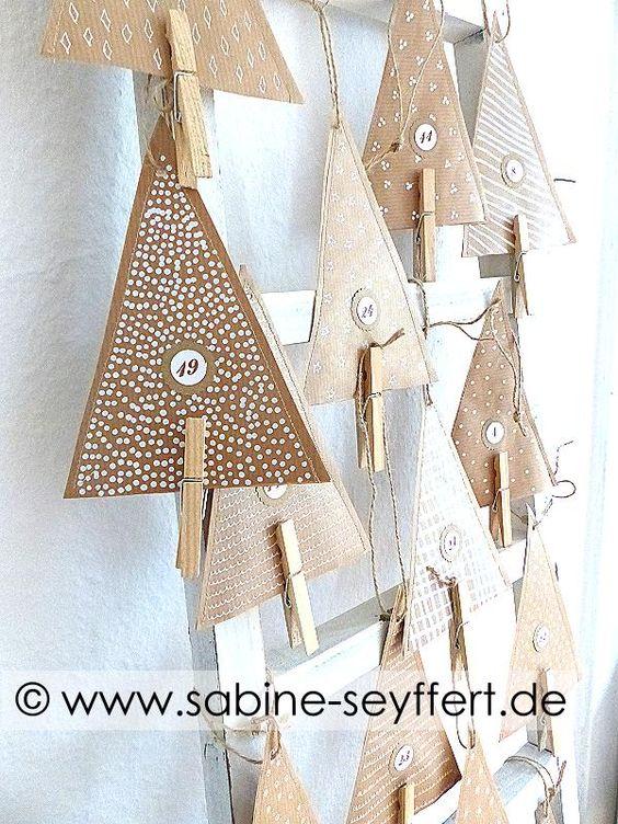 DIY Selbst gemachte Adventskalender: 24 Tannenbäume mit kleiner Überraschung basteln | Blog Sabine Seyffert