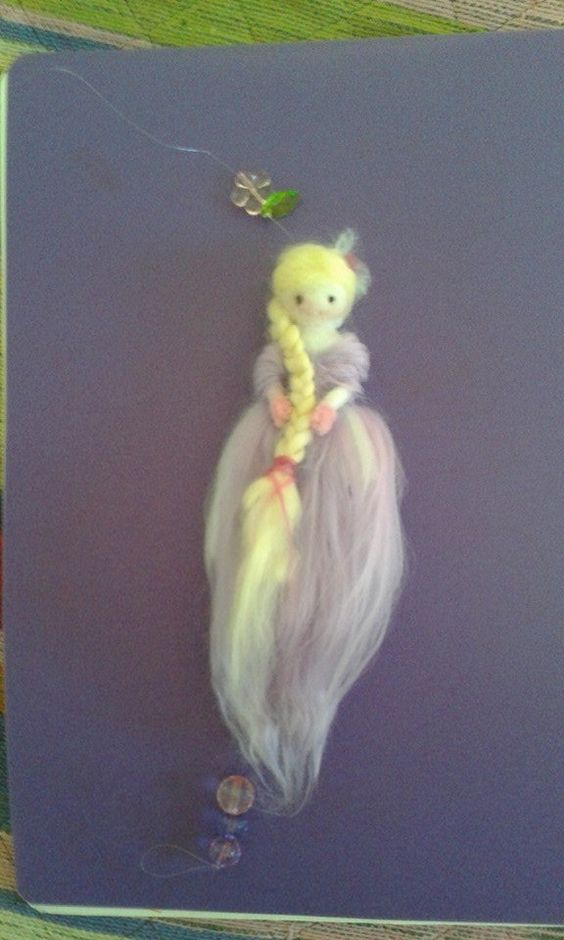 Felting My first Fairy: