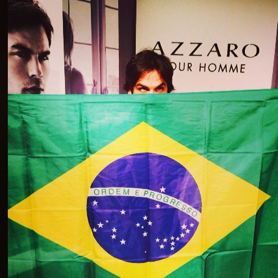 Ian Somerhalder - 14/05/14 - Thank you for more presents Brasil!More love,more screams and thank you Azzaro Por Homme aka @azzaro_official for The love, the trip to Lake Como, the trip to Brasil and for making me smell like a man:) Maybe now I can get a girl! What do you think??? Love, Ian http://instagram.com/p/n_p4CLKJww/ - Twitter & Instagram Pictures