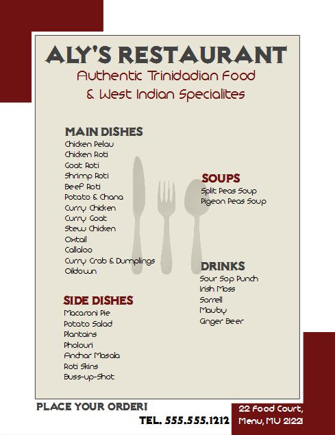 Using And Customizing Templates In OpenOfficeorg   Page 2   How To Make A  Restaurant Menu  How To Make A Food Menu On Microsoft Word
