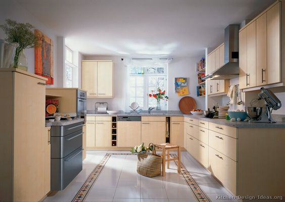 Modern light wood kitchen cabinets 25 kitchen for Alno kitchen cabinets