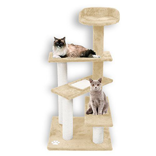 Large Cat Tree For Indoor Cats Firstwell Cat Trees Kitty Tower Furniture Kitten Climb Stand With Natural Sisal Ropes S Large Cat Tree Cat Towers Cat Tree
