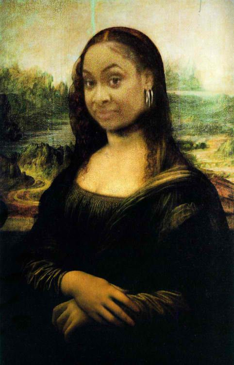 This made me laugh so hard!!: Laughing So Hard, Raven Lisa, Mona Lisa, Ya Nastyyy, Mona Raven, Funny Stuff, So Funny, Yah Nasty, Can'T Stop Laughing