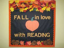 Thanksgiving bulletin board for the library fall in love for Heart shaped bulletin board