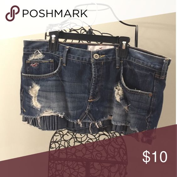 Jean mini skirt Jean skirt Hollister Skirts Mini