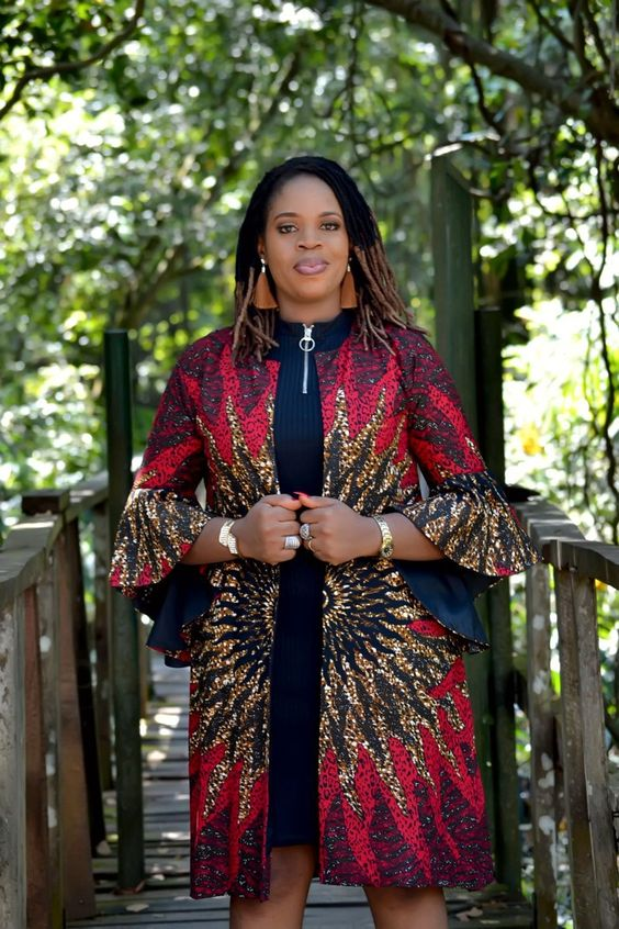 kimono imprimé africain