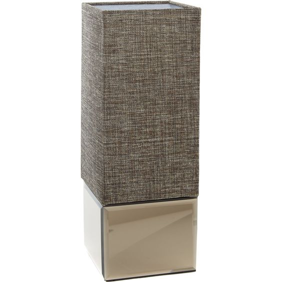 Brown Cuboid Canvas Table Lamp 35cm - Lighting - Home Accessories - Home - TK Maxx