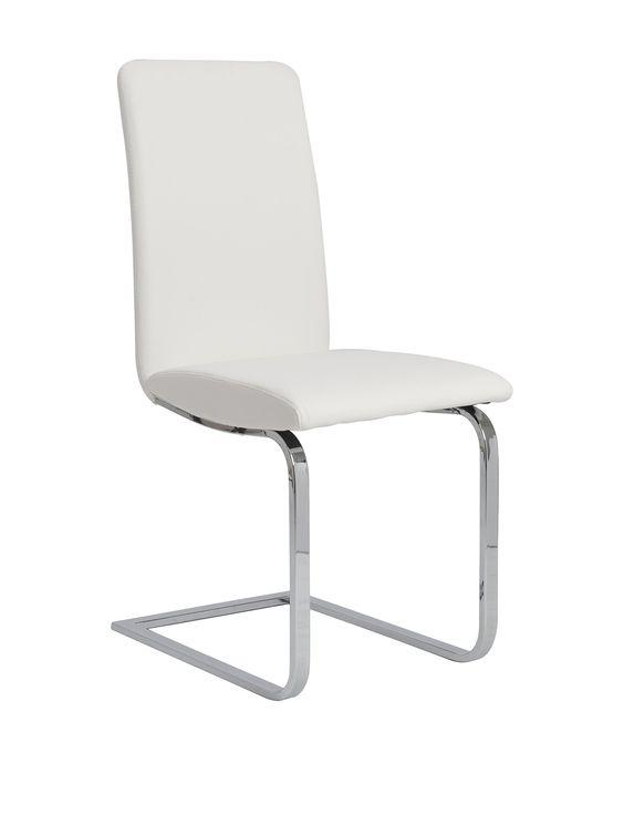 Eurostyle Cinzia Side Chair, White at MYHABIT