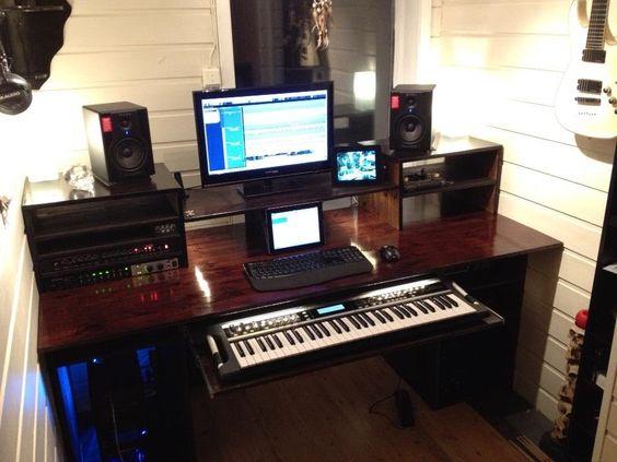 Fabulous My Build A Home Studio Recording Desk Result Workstation Largest Home Design Picture Inspirations Pitcheantrous