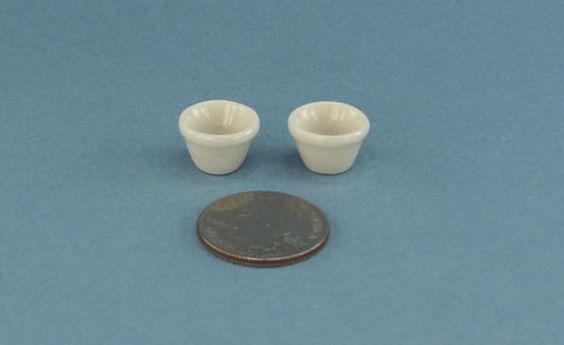Very+Nice+Set+of+2+Dollhouse+Miniature+Small+Porcelain+Bowls+#RG1212+