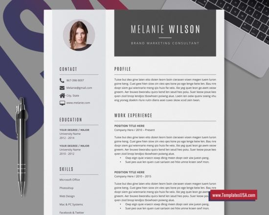 Pin Di Cv Design Template