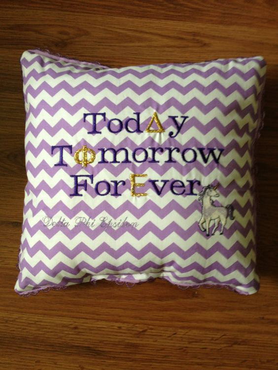 Delta Phi Epsilon Purple Chevron by PutSomeGreekOnIt on Etsy, $35.00