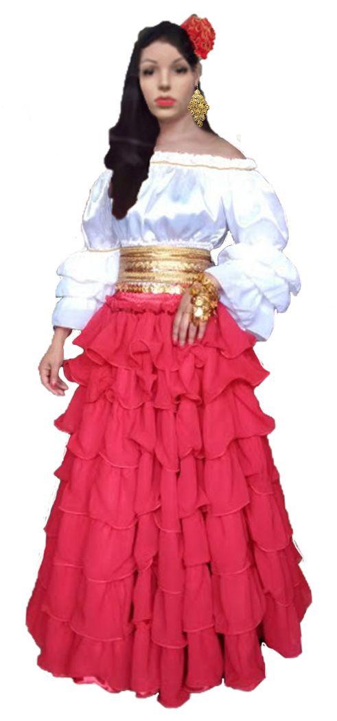 Sete Saias Cigana Com Imagens Saias Vestidos Vitorianos