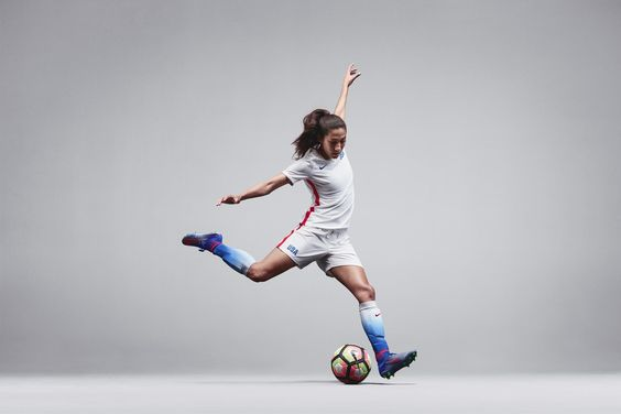 Christen Press in the new Olympic kit from Nike.
