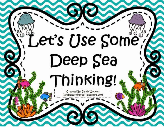 Free ocean themed math game using Bloom's Questions!