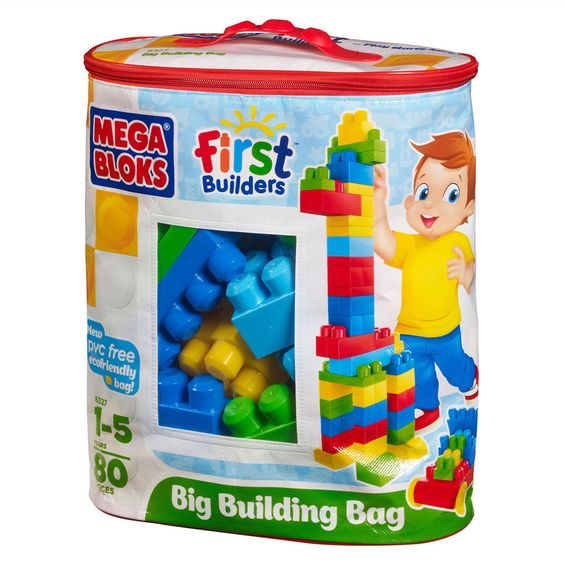 Mega Bloks 80-Piece Classic Big Building Bag In Bright Multicolor - Beyond the Rack