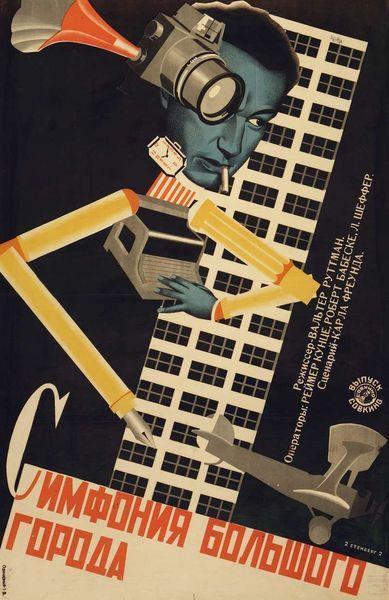 Berlin, Symphonie d'une grande ville * réalisé par Walter Ruttmann. Stenberg Vladimir Avgustovich (1899-1982), Stenberg Georgy Avgustovich (1900-1933) Sovkino [Société de production nationale pour le cinéma et la photographie], Moscou, 1928.