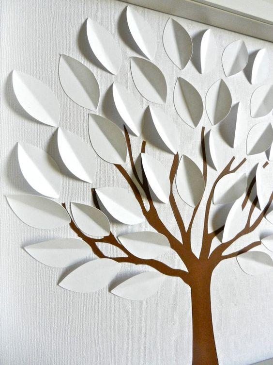Arbre 3D Guest Book Alternative va par KristynsKreations517 sur Etsy