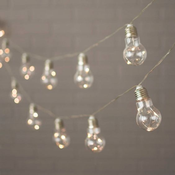 Outdoor Led Bulb String Lights : Edison bulb string lights outdoor holiday. 27-foot string of Warm White Fairy LED Lights is USD 33 ...
