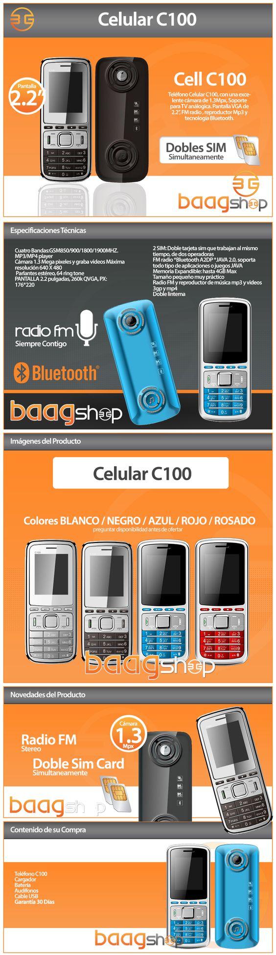 Nokia C100. Cliente Baag Shop. Elaborado por iGrafi